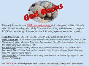 God Rocks our Lenten Journey