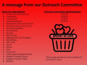 outreach basket needs